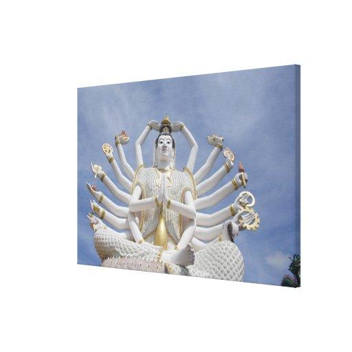 Thailand, Ko Samui aka Koh Samui). Wat Plai Gallery Wrapped Canvas