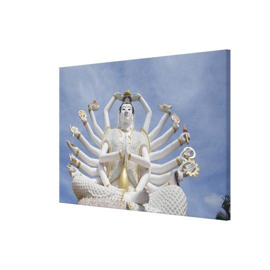 Thailand, Ko Samui aka Koh Samui). Wat Plai Canvas Print