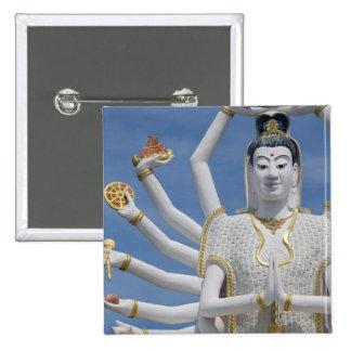 Thailand, Ko Samui aka Koh Samui). Wat Plai Pinback Button
