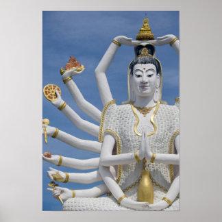 Thailand, Ko Samui aka Koh Samui). Wat Plai Poster