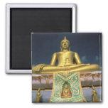 Thailand, Koh Samui Island. Big Buddha. 2 Inch Square Magnet