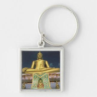 Thailand, Koh Samui Island. Big Buddha. Silver-Colored Square Keychain