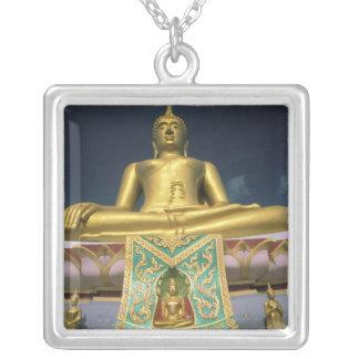 Thailand, Koh Samui Island. Big Buddha. Silver Plated Necklace