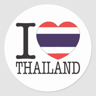 Thailand Love v2 Classic Round Sticker