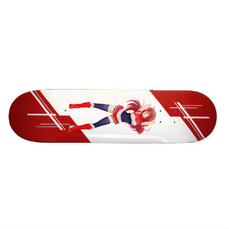 Thailand Manga Anime girl dressed in Flag Skateboard Deck