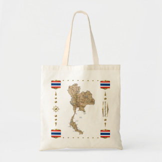 Thailand Map + Flags Bag
