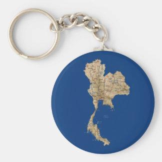 Thailand Map Keychain