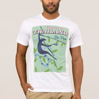 Thailand Monkey vintage travel print T-Shirt