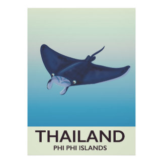 Thailand Phi Phi Islands Travel poster