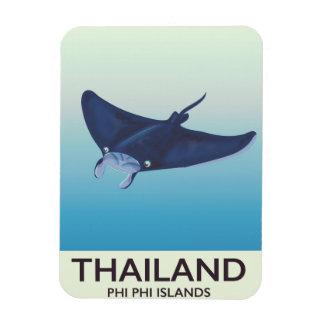 Thailand Phi Phi Islands Travel poster Magnet