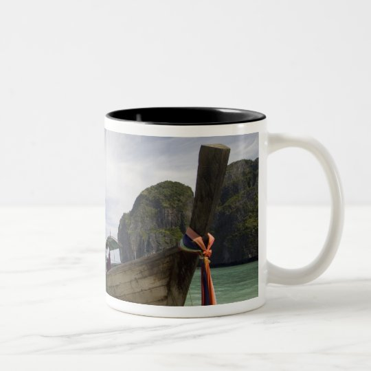Thailand, Phi Phi Lay Island, Maya Bay. Two-Tone Coffee Mug