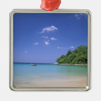 Thailand, Phuket Island. Beach. Square Metal Christmas Ornament
