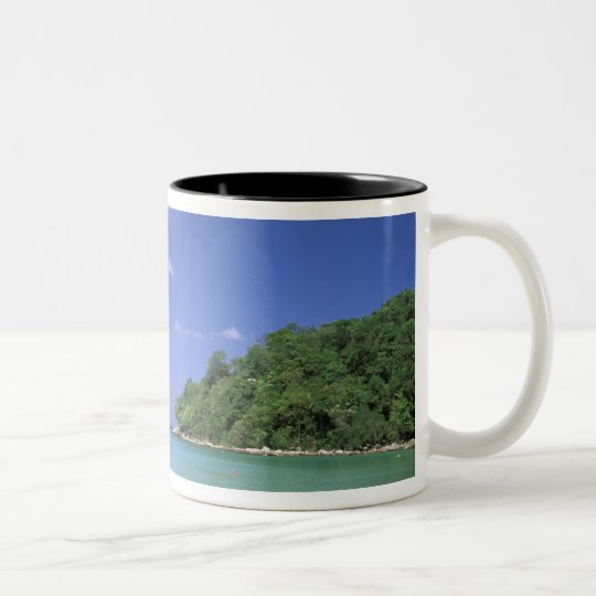 Thailand, Phuket Island. Beach. Two-Tone Coffee Mug