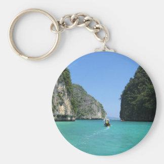 Thailand Phuket Basic Round Button Keychain