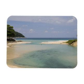 Thailand, Phuket, Nai Harn beach. Rectangular Photo Magnet