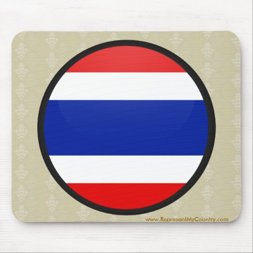 Thailand quality Flag Circle Mousepads