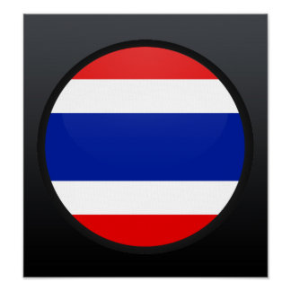 Thailand quality Flag Circle Posters