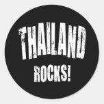 Thailand Rocks! Round Stickers