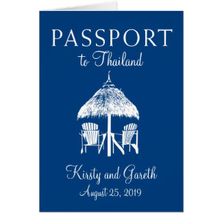Thailand Save the Date Passport | Wedding Card