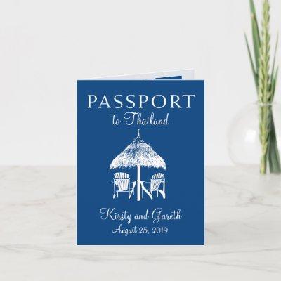 Thailand Save the Date Passport | Wedding Invitation
