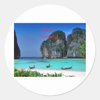 Thailand Classic Round Sticker