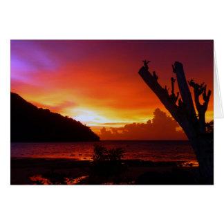 Thailand sunset card