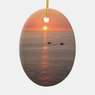 Thailand Sunset Ceramic Ornament