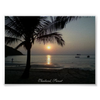 Thailand, Sunset - Poster Print