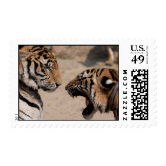 Thailand Tiger Stamps - Theravada Buddhist temple