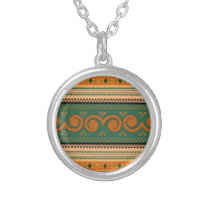 Thailand Traditional Patterns   Decorative art Silver Plated Necklace