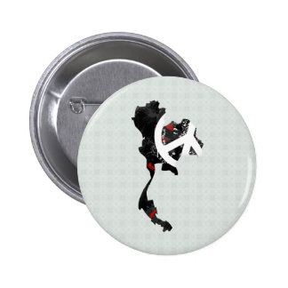 Thailand Trendy Peace Sign with Thai map Pinback Button
