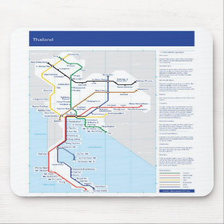 Thailand tube map mouse mat mouse pad
