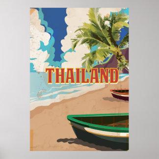 Thailand Vintage Travel Poster