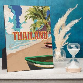 Thailand Vintage Travel Poster Plaques