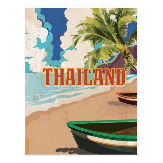 Thailand Vintage Travel Poster Postcard