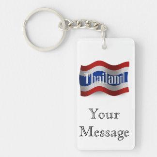 Thailand Waving Flag Keychain