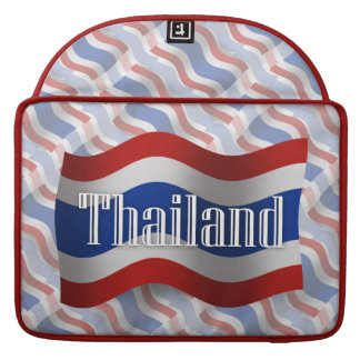Thailand Waving Flag MacBook Pro Sleeves
