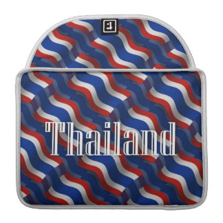 Thailand Waving Flag MacBook Pro Sleeve