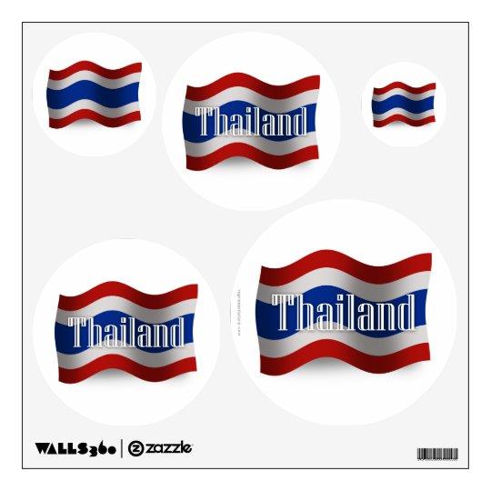 Thailand Waving Flag Wall Decal