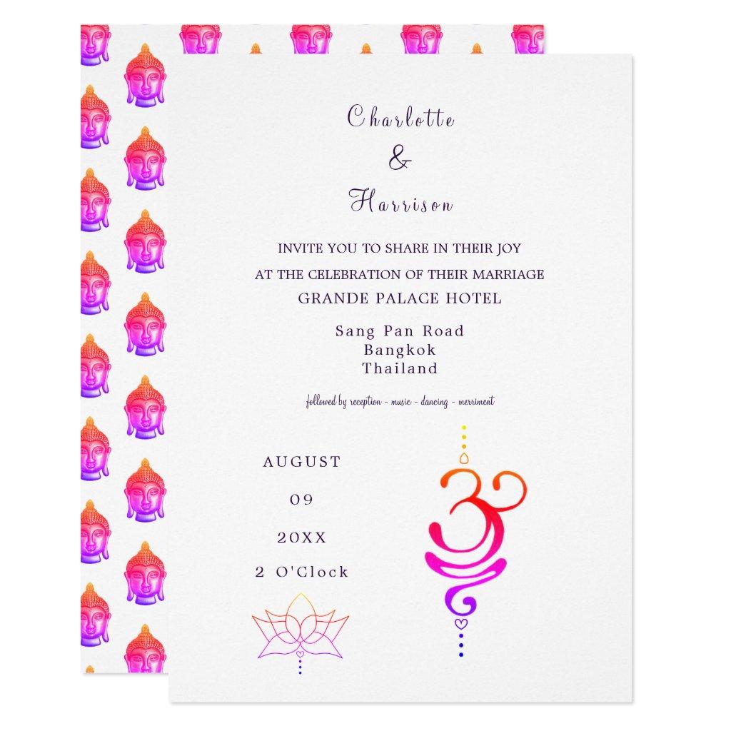 Thailand Wedding Destination Invitation