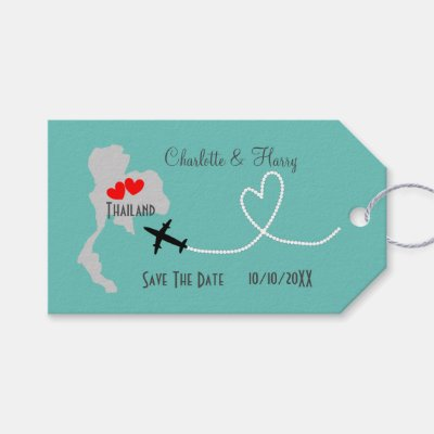 Thailand Wedding Save The Date Gift Tags