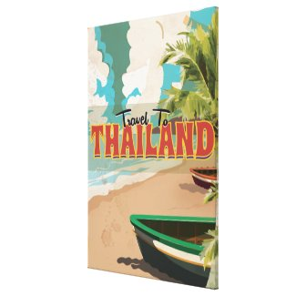 Thailand Wedding Travel poster Canvas Print