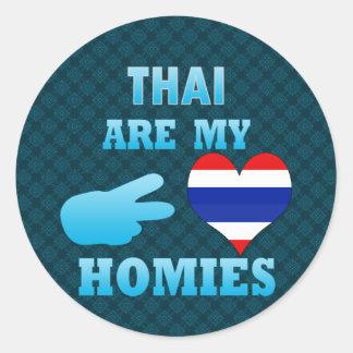 Thais es mi Homies Pegatina Redonda