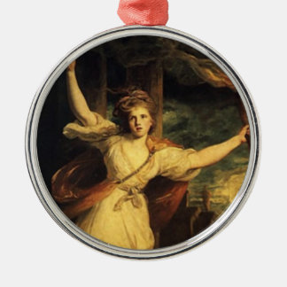 Thais of Ahens with Tourch By Joshua Reynolds Metal Ornament