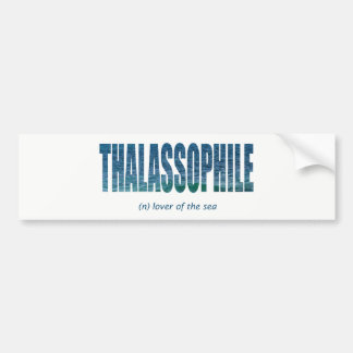 Thalassophile Bumper Sticker