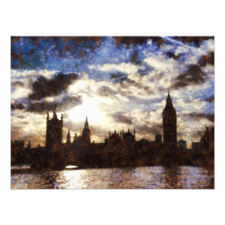 Thames and Westminster Palace Photo Print