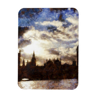 Thames and Westminster Palace Rectangular Photo Magnet