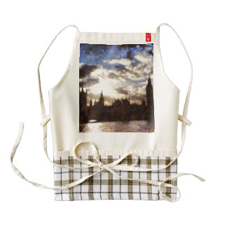 Thames and Westminster Palace Zazzle HEART Apron