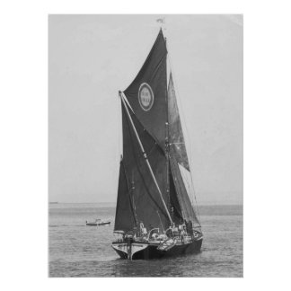 Thames barge race 19751 poster