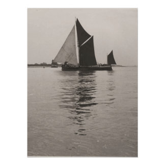 Thames barge race 1975  a poster